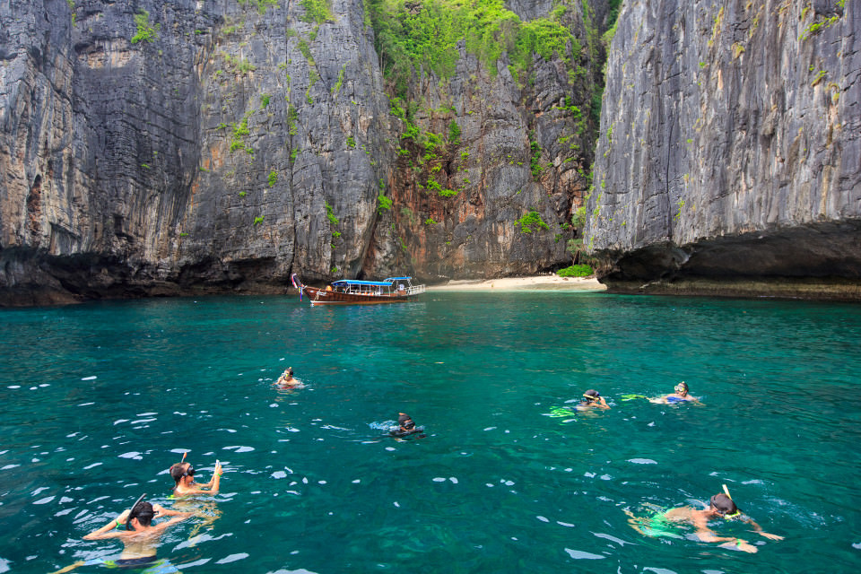 The-official-photographers-Phi Phi Island-swimming