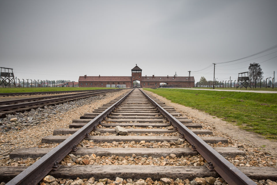The-official-photographers-Auschwitz-concentration-camp-train-track