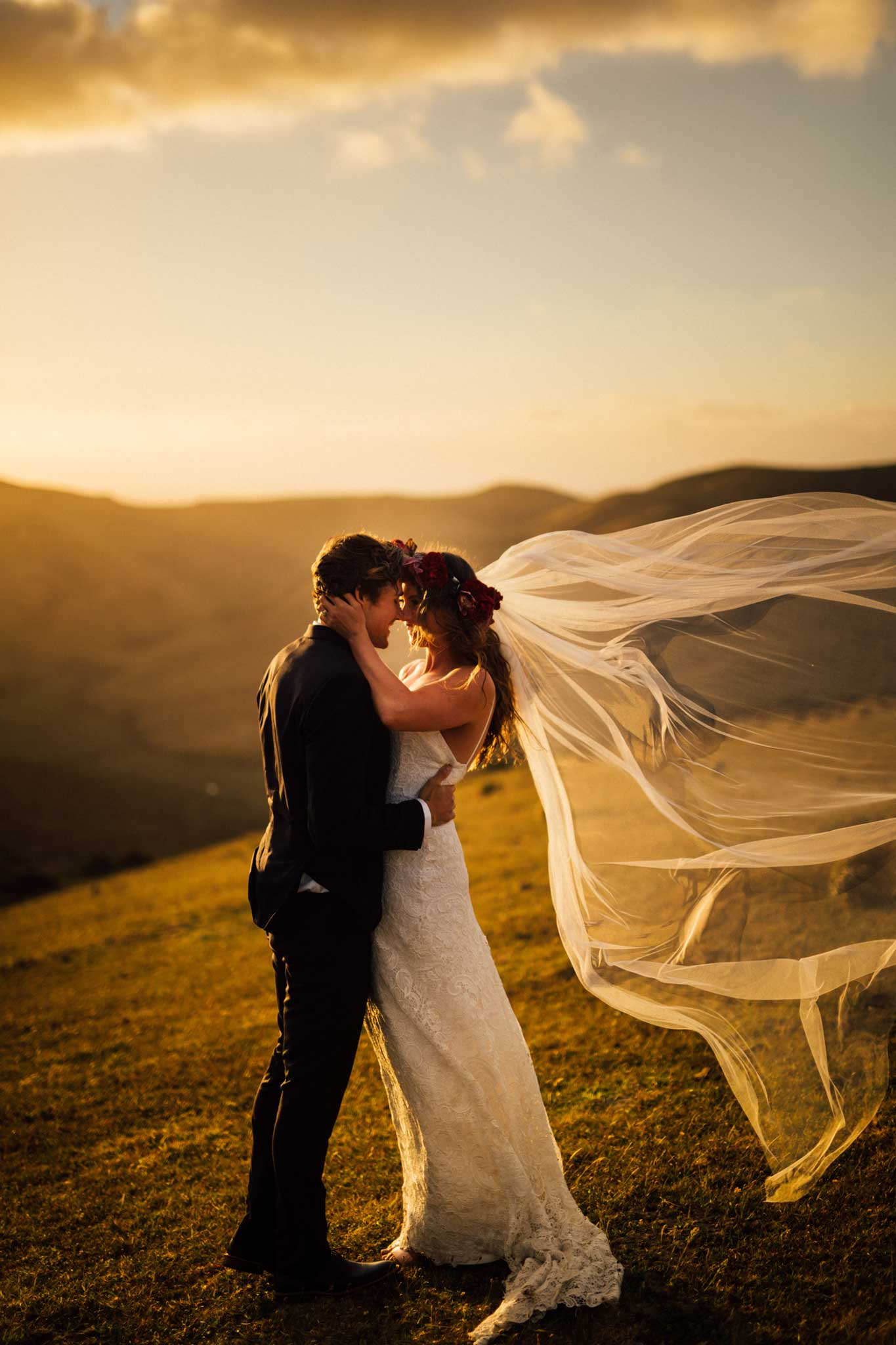 jonkers farm top sunset wedding photographers