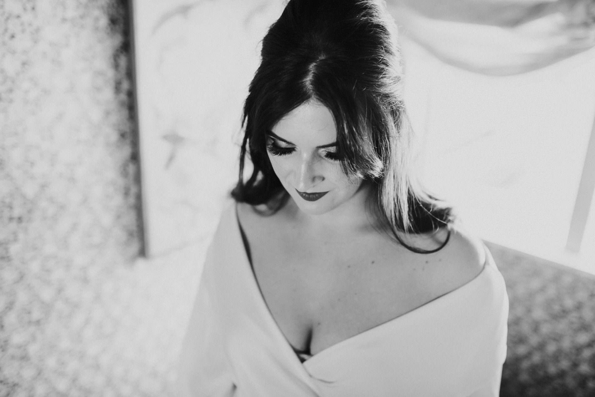 Bride in Ruby top