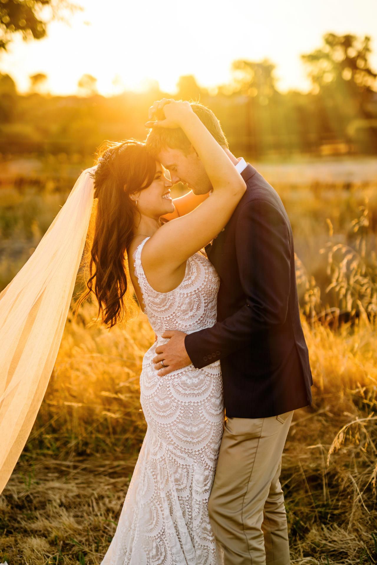 Golden hour nz wedding photography