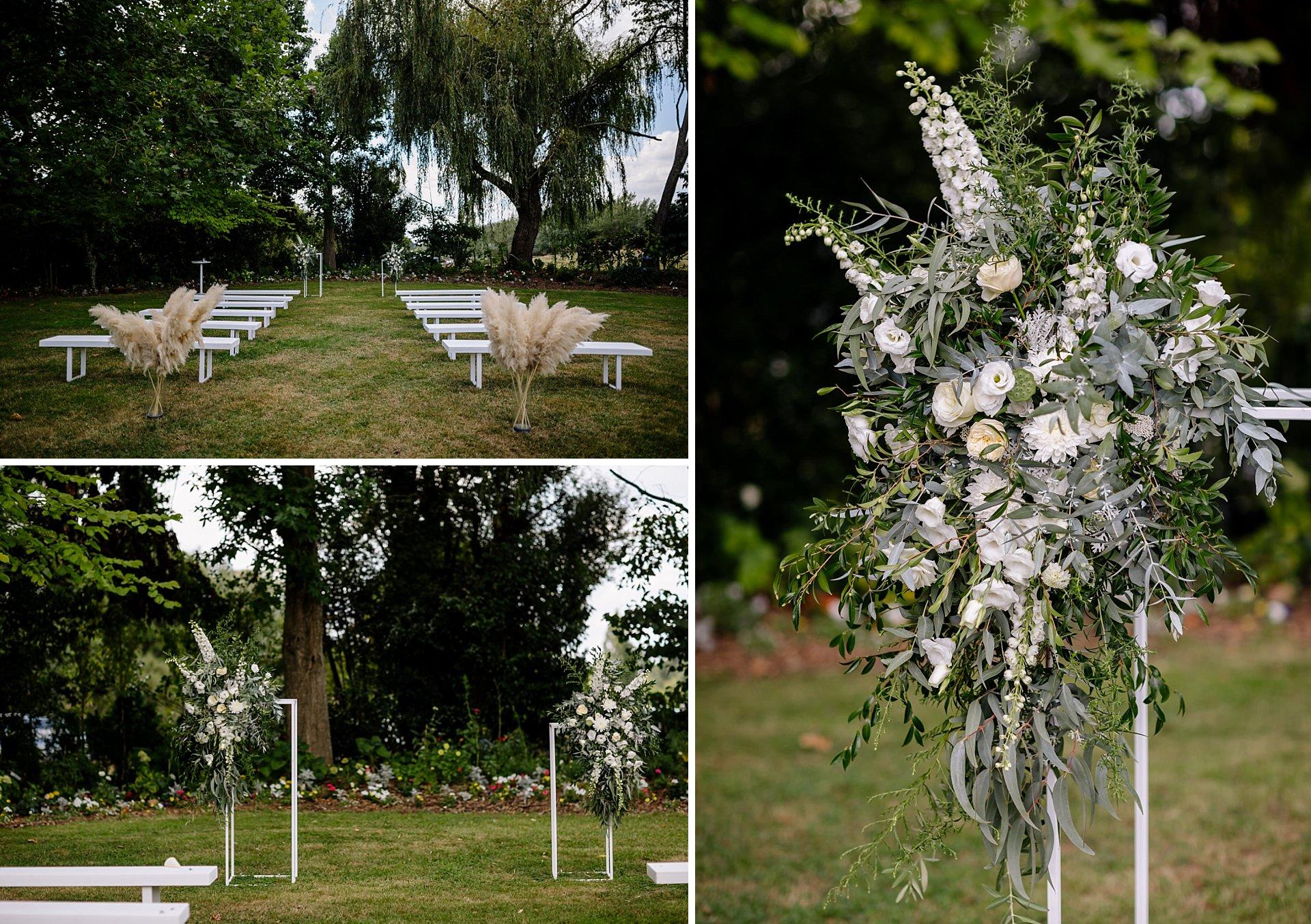 DIY back yard wedding setup in Hamilton New Zealand