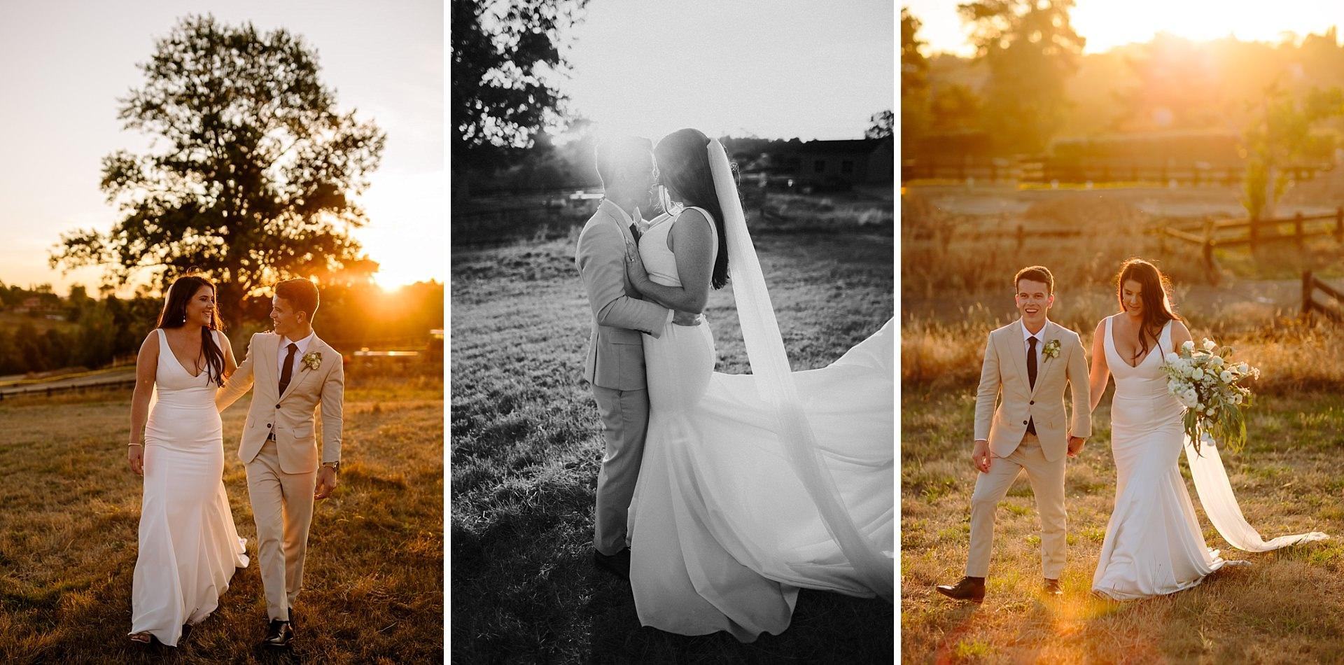 New Zealand Sunset wedding photography