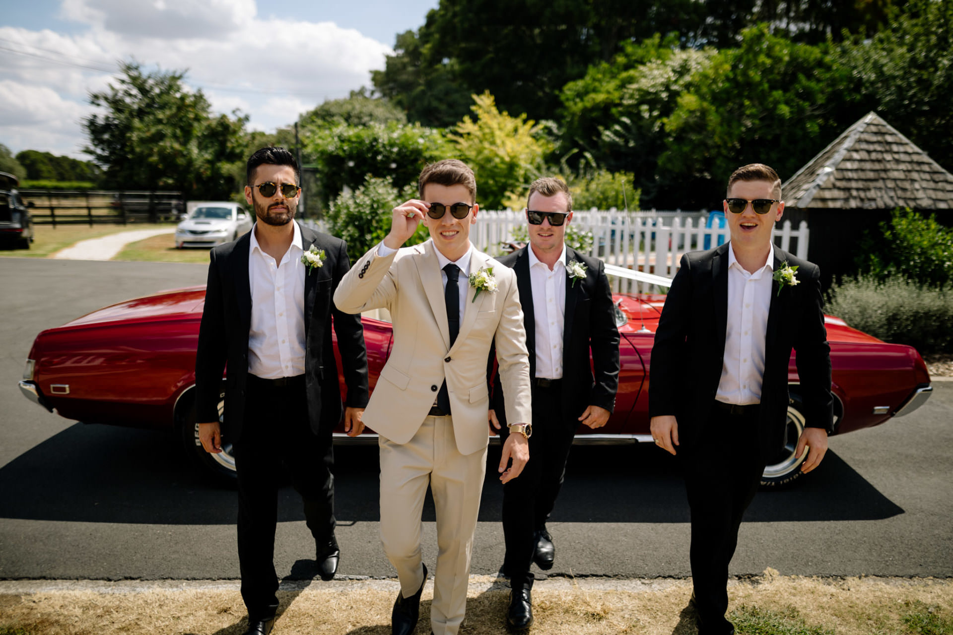 Epic wedding photography of groom and grooms man