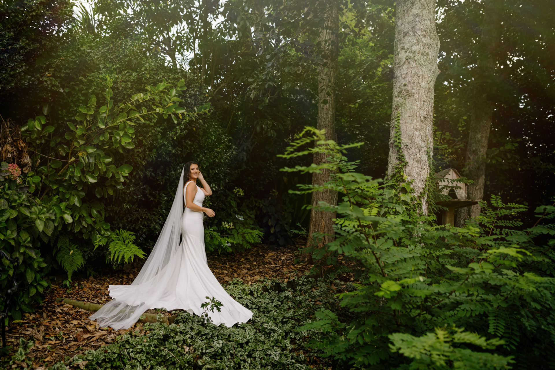 Hamilton wedding photography in forest