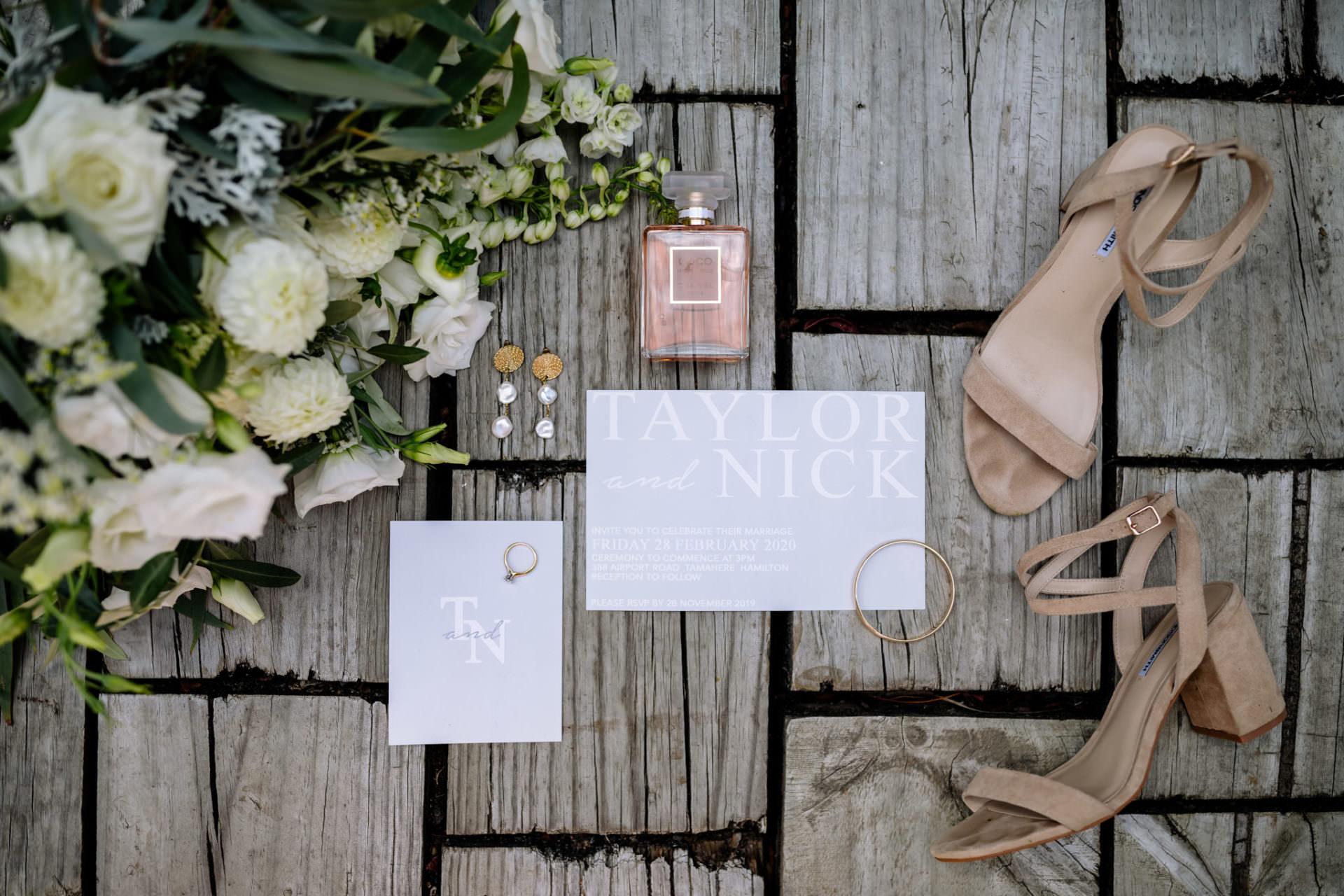 Hamilton Wedding invitation design